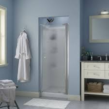 this review is from silverton 30 in x 64 3 4 in semi frameless contemporary pivot shower door in chrome with rain glass
