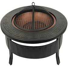 xemqener outdoor fire pit with bbq
