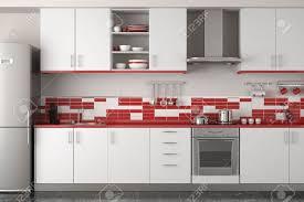 Red Kitchen Decor Kitchen Wall Design With Red Kitchen Decor Ideas And Brown Floor