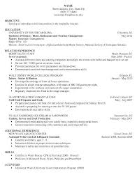 Restaurant Resume Impressive Resume Samples For Restaurant Servers Mmventuresco