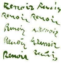 Image result for what does renoir signature look like