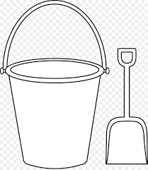 Bucket Coloring Book Sand Shovel Clip Art Picture Of A Bucket Png