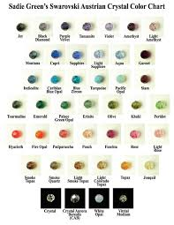 austrian crystal color chart