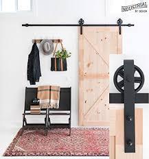 8 foot big wheel sliding barn door hardware kit black includes easy