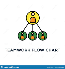 Teamwork Flow Chart Icon Business Hierarchy Or Business