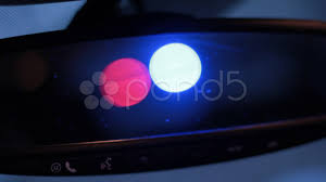Cop Lights Rear View Mirror Hd