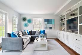 Bleu Turquoise Et Gris En 30 Ides De Peinture Murale Et Dcoration