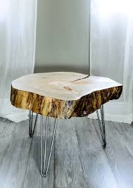 Coffee Table End Tables Reclaimed Canary Island Pine Tree Slice Table End Table Side