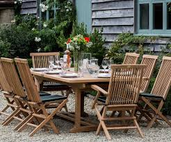 orchid extending teak garden dining tables