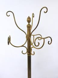 Mid Century Coat Rack MidCentury Brass Hat and Coat Rack 100s for sale at Pamono 62