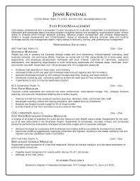 Restaurant Management Resumes Delectable Resume Examples For Restaurant Supervisor Plus Resume Template