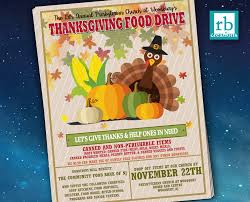 How To Make A Digital Flyer Event Flyer Food Drive Flyer Thanksgiving Flyer Autumn