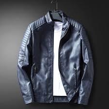 aude men s leather jacket winter wear fashion jacket casual men s coats free