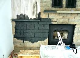 painting inside of fireplace how to easily paint a stone charcoal grey tile insert metal to give the fireplace insert
