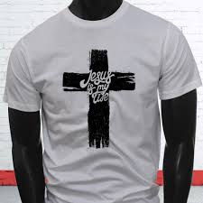 Mens Shirts With Cross Designs Jesus My Life Cross Black Christian Faith Bible Mens White T Shirt Awesome T Shirt Designs Tea Shirts From Crazytees 12 7 Dhgate Com
