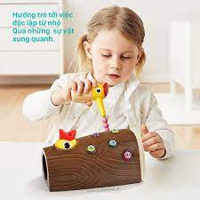 Bộ đồ chơi nam châm Chim gõ kiến bắt sâu TOPBRIGHT cho bé 1-2-3 tuổi –  Kidsmove - Thế giới xe của bé