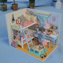 wholesale wooden doll dinning house furniture.  doll 3d kids wooden assemble diy doll house toy miniatura houses furniture  kits girls living room with wholesale dinning