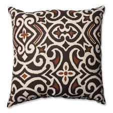 amazoncom pillow perfect brownbeige damask inch throw pillow