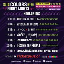 Color Night Lights Chile 2019