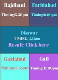 Shri Ganesh Satta Chart Satta Result Of Gali Disawar Faridabad Ghaziabad Agra