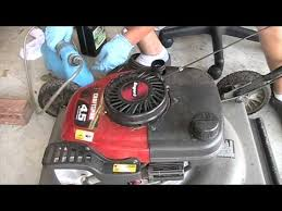Oil Change in a Craftsman Lawn Mower with Tecumseh Engine - YouTube