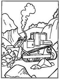 Kleurplaat Kraan Kleurplaat Graafmachine Aan Het Werk Wegenbouw