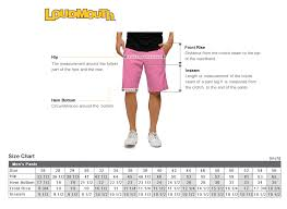 Loudmouth Golf Mens Womens Size Chart