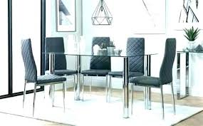 black glass dining room table set sheen small