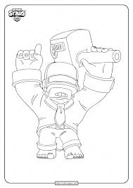 Make them come alive with vivid colors to suit your creative handwork and boast them big to. Printable Brawl Stars Dj Frank Coloring Pages