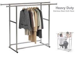 portable garment hanger adjustable portable clothes rack double