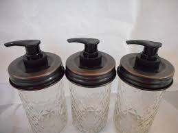 Mason Jar Bathroom Accessories Mason Jar Soap Dispenser Lid Organize Your Life
