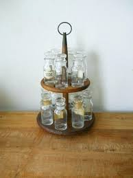 spice rack lazy susan vintage wooden with glass jars organizer uk spice rack lazy susan