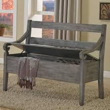 rustic storage bench. Modren Storage Kennedy Rustic Weathered Gray Storage Bench In H