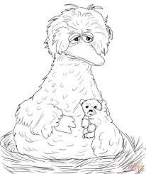 Small Picture Sesame Street Big Bird coloring page Free Printable Coloring Pages