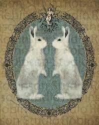 double white rabbit bunny original