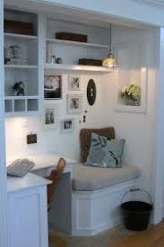 closet to office. turn your spare closet into a home office love this one to