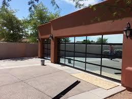 mirrored glass modern garage