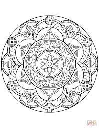 Disegno Di Mandala Con Fiore Da Colorare Disegni Da Colorare E Con