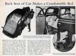 Back Seat Bed Back Seat Of Car Makes A Comfortable Bed Modern Mechanix