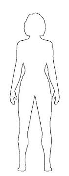 Body Outline Coloring Page Person Outline Coloring E Body Template