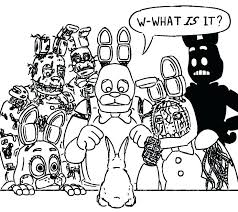 Fnaf Spring Bonnie Coloring Pages Spring Coloring Pages Spring And