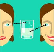 Resultado de imagen para vaso medio lleno medio vacio