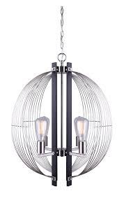 canarm ich515b04bkn hd marlin 4 light matte black brushed nickel sphere chandelier