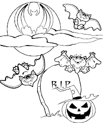 Small Picture Halloween Bat Colouring Pages For Kids Hallowen Coloring pages