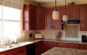 White Kitchen With Red Accents Red Brown Kitchen Ideas Quicuacom