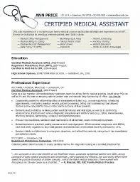 Medical Assistant Resume Template Free Magnificent Medical Assistant Resume Template New Resume Elegant Cna Resume