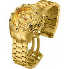 invicta reserve watches jomashop invicta reserve chronograph gold dial gold ion plated men s watch