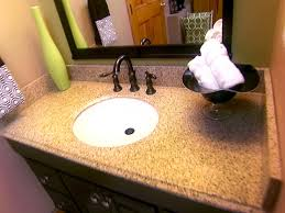 Refinish Bathroom Vanity Top How To Install A Bathroom Vanity And Sink Bathroom Sinks Decoration