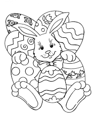 Easter Coloring Easy Easter Coloring Pages Bunny And Eggs Easy