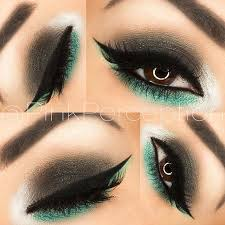 black green eye makeup look for brown eyes i have blue eyes but this would look good for